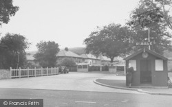Whalley, The Ribble Bus Station c.1955