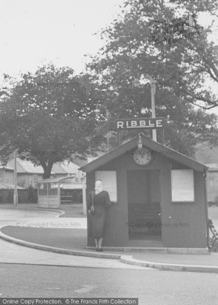 Photo of Whalley, The Ribble Bus Station c.1955