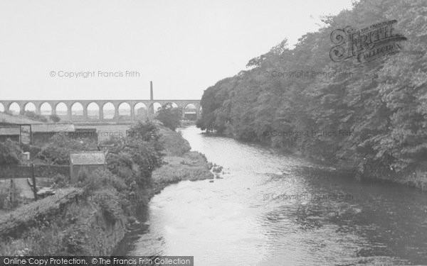 Photo of Whalley, The River Calder From The Bridge c.1955