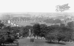 The Viaduct From The Nab 1901, Whalley