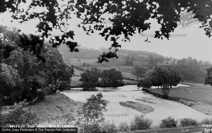 Photo of Whalley, The Weir c.1955