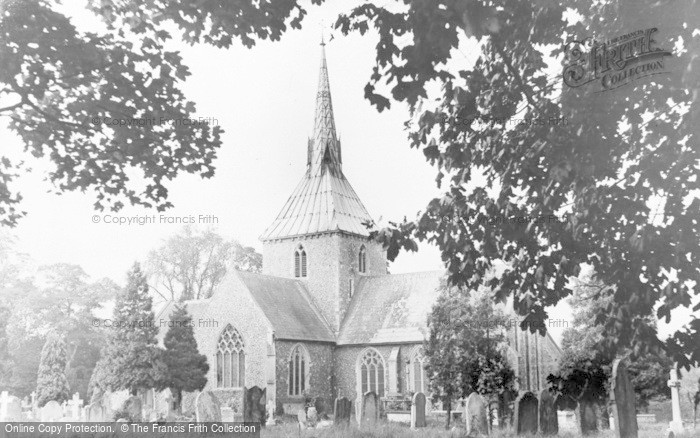 Photo of Wheathampstead, St Helen's Church c.1960