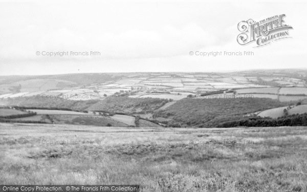 Photo of Wheddon Cross, From Dunkery Beacon c.1955