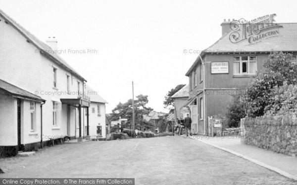 Photo of Wheddon Cross, The Village c.1955
