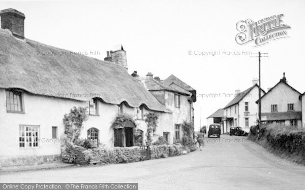 Photo of Wheddon Cross, The Village c.1955