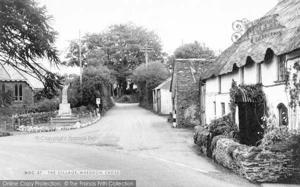Photo of Wheddon Cross, The Village c.1965