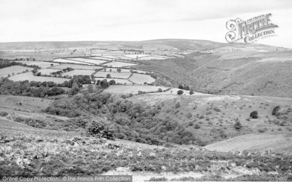 Photo of Wheddon Cross, View From Dunkery Hill c.1955