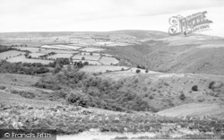 Wheddon Cross, View From Dunkery Hill c.1955