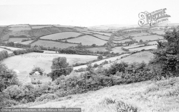 Photo of Wheddon Cross, View From The Village c.1955