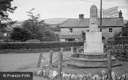 War Memorial And Dunkery Beacon c.1950, Wheddon Cross