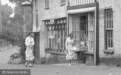 Windowshopping c.1955, Wheddon Cross