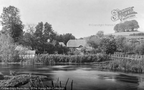 Photo of Wherwell, River Test c.1955