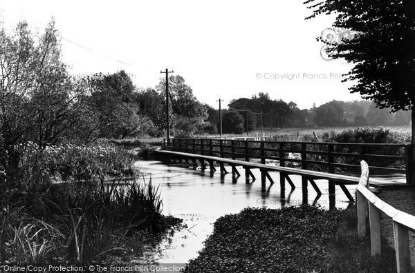 Photo of Wherwell, The Bridge Over River Test c.1955
