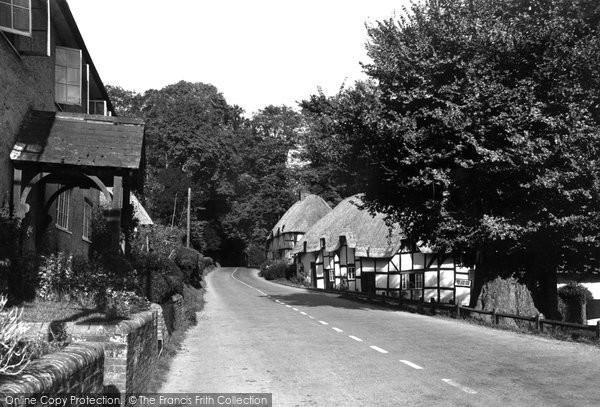Photo of Wherwell, The Village c.1955