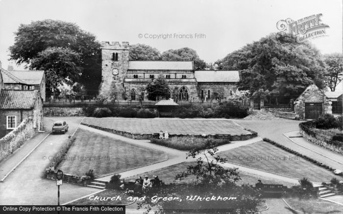 Photo of Whickham, Church And Green c.1955