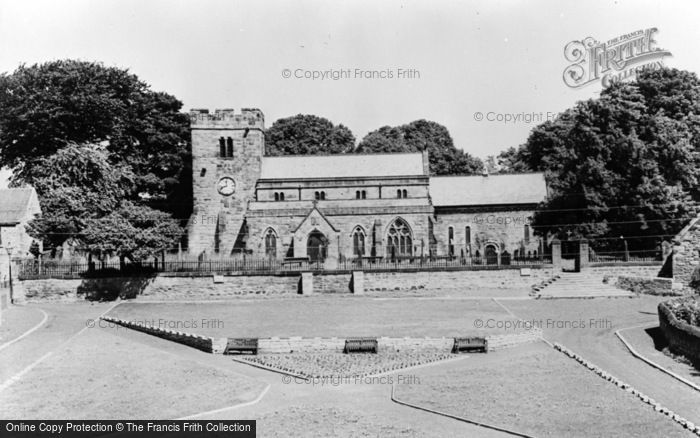 Photo of Whickham, St Mary's Church And Green c.1955