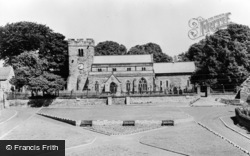 Whickham, St Mary's Church And Green c.1955