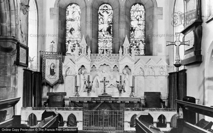 Photo of Whickham, The Church Interior c.1955