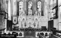 Whickham, The Church Interior c.1955