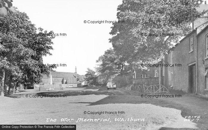 Photo of Whitburn, War Memorial c.1955