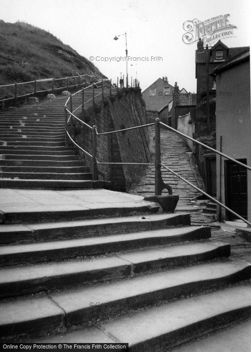 Photo of Whitby, 199 Steps To The Church c.1960