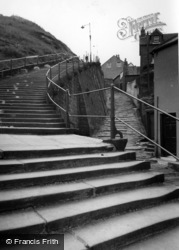 Whitby, 199 Steps To The Church c.1960