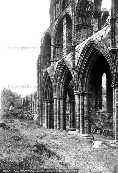 Photo of Whitby, Abbey Arches 1913