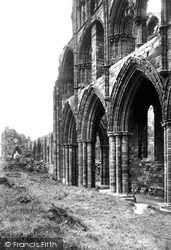 Whitby, Abbey Arches 1913