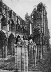 Whitby, Abbey c.1873