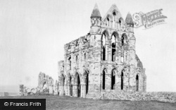 Whitby, Abbey c.1880
