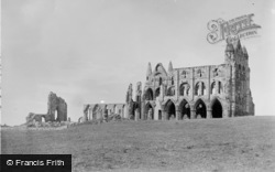 Whitby, Abbey Church 1890