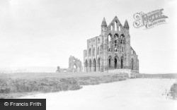 Whitby, Abbey Church c.1890