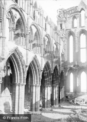 Whitby, Abbey Church Interior c.1890