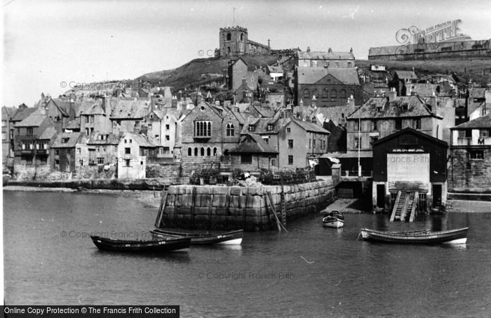 Photo of Whitby, Abbey From Fish Quay c.1935