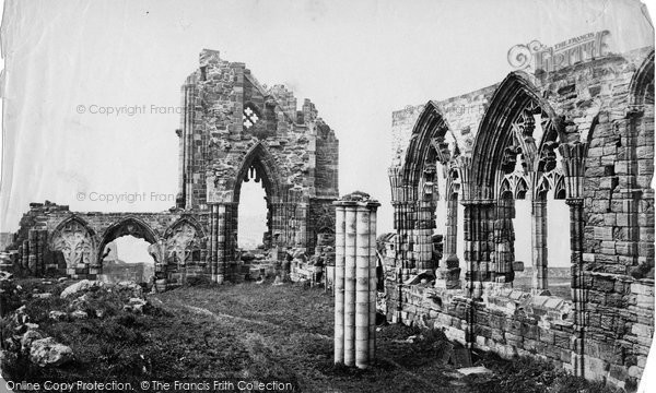 Photo of Whitby, Abbey Interior (Column) c.1878