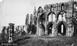 Whitby, Abbey Interior (Iron Rails) c.1878