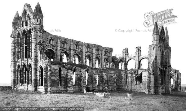 Photo of Whitby, Abbey North East c.1878