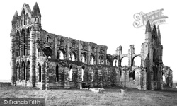 Whitby, Abbey North East c.1878
