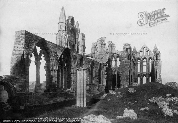 Photo of Whitby, Abbey South West 1897