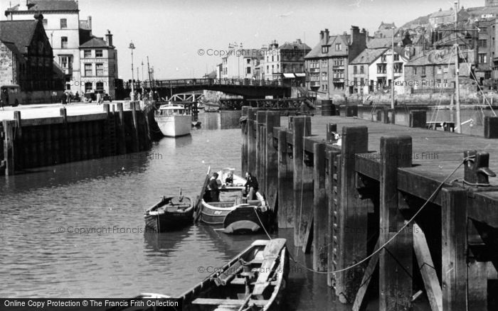 Photo of Whitby, Bridge And River Mouth c.1950