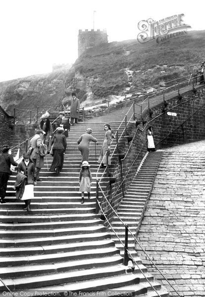 Photo of Whitby, Church Steps 1913
