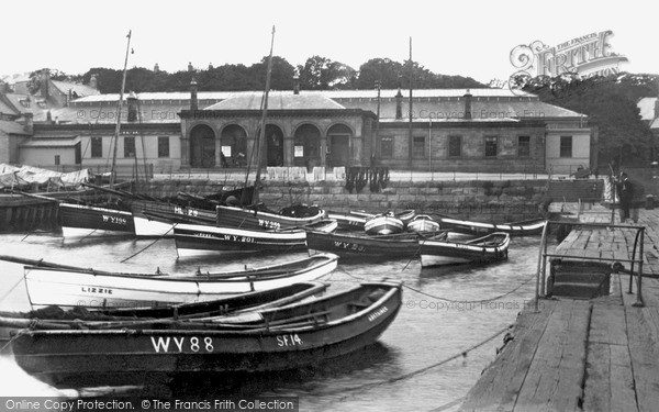 Photo of Whitby, Dock End And The Station 1930