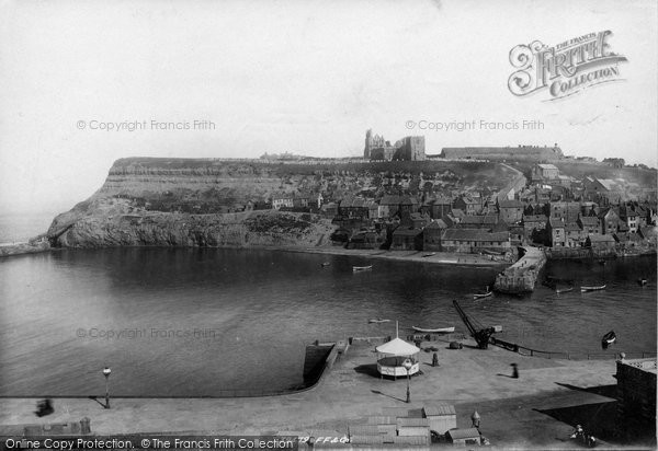 Photo of Whitby, East Cliff 1897