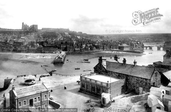 Photo of Whitby, East Cliff 1901