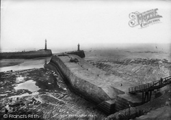 Whitby, East Pier 1897