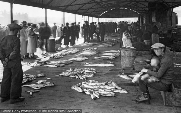 Photo of Whitby, Fish Quay 1923