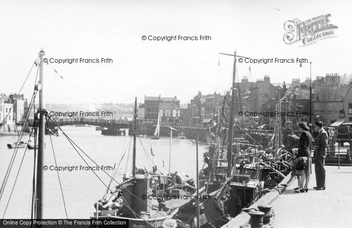 Photo of Whitby, Fish Quay c.1935