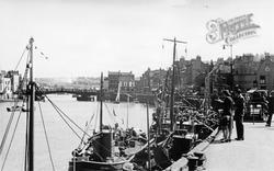 Whitby, Fish Quay c.1935