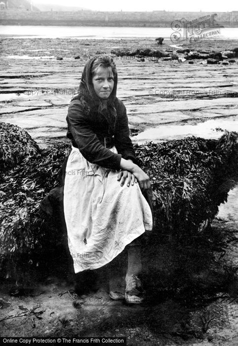 Photo of Whitby, Fisher Girl 1891