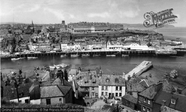 Photo of Whitby, From East Cliff c.1960